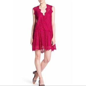 NWT $108 Free People Heart in Two Lace Minidress